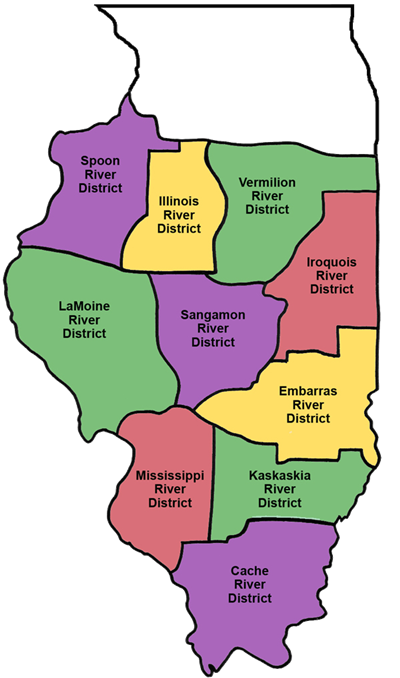 Districts - Map of illinois rivers