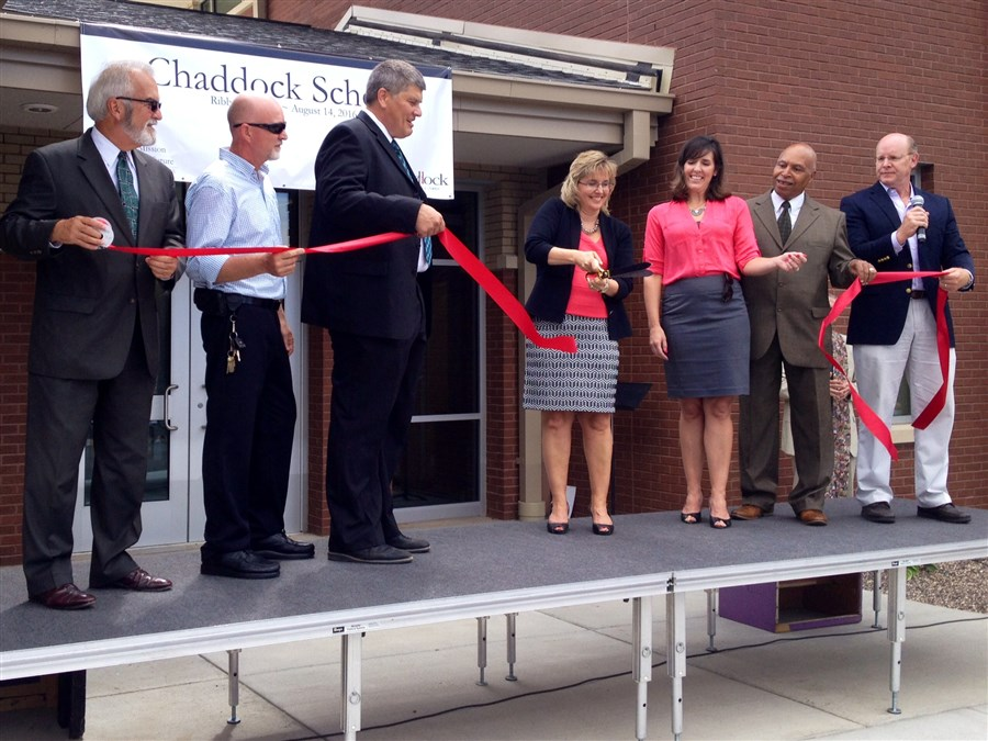 Chaddock Education Center ribbon cutting