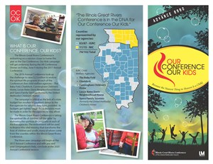 Our Conference, Our Kids brochure (front)