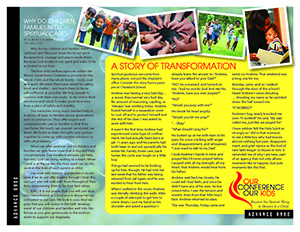 Our Conference, Our Kids brochure (back)